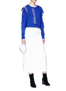 3.1 Phillip Lim Tie slit sleeve lace silk top