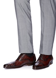 Magnanni Crocodile leather Oxfords
