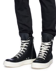 Rick Owens DRKSHDW 拼色高筒运动鞋