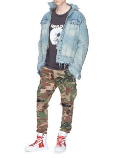 Amiri 'MX1' laether patch camouflage print cargo pants