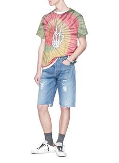 Amiri 'Bones Peace' print tie dye T-shirt