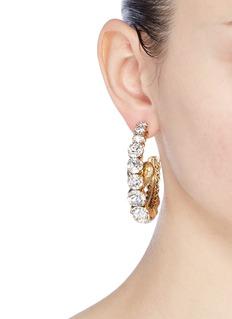 Erickson Beamon 'Emerald City' Swarovski crystal mismatched hoop earrings