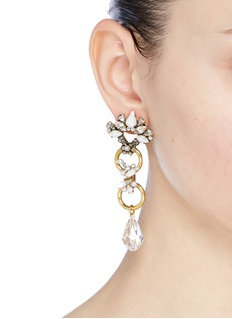 Erickson Beamon 'Sincerely Yours' Swarovski crystal abstract drop earrings