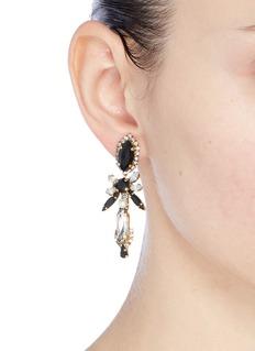 Erickson Beamon 'Dark Shadows' Swarovski crystal abstract drop earrings
