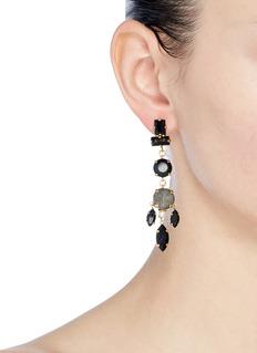 Erickson Beamon 'Dark Shadows' Swarovski crystal drop earrings