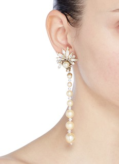 Erickson Beamon 'Sincerely Yours' Swarovski crystal faux pearl drop earrings
