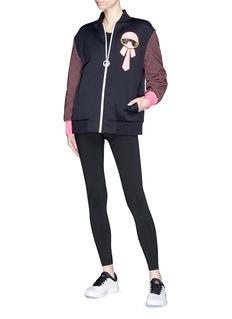 Fendi Sport 'Karlito' patch bomber jacket