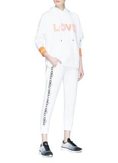 Fendi Sport 'Love' slogan print scuba jersey hoodie