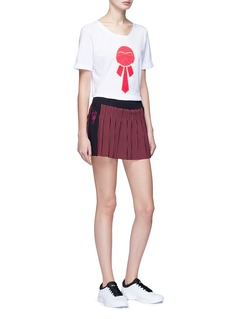 Fendi Sport 'Karlito' dot print pleated fitness skirt