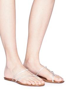 Pedro García 'Estee' Swarovski crystal cross strap sandals