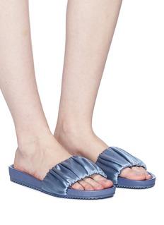 Pedro García 'Aniston' ruched satin slide sandals
