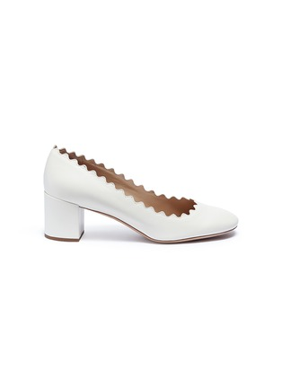 Main View - Click To Enlarge - Chloé - 'Lauren' scalloped nappa leather pumps