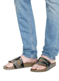 Valentino Camouflage print slide sandals