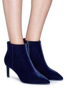 Pedder Red Velvet ankle boots
