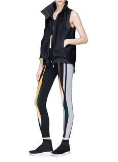 No Ka'Oi 'Walu' honeycomb net sleeveless zip performance hoodie