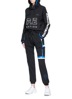P.E Nation Second Blind Pass品牌名称拼色条纹连帽卫衣