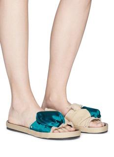 Sam Edelman 'Bodie' satin canvas bow slide sandals
