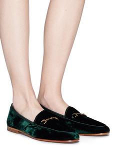 Sam Edelman 'Loraine' horsebit crushed velvet step-in loafers