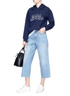 Topshop 'Moto' raw cuff culotte jeans