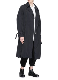 The Viridi-anne Belted poplin trench coat