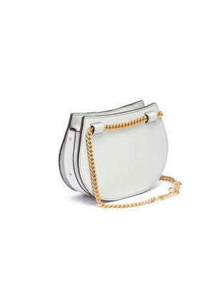 Detail View - Click To Enlarge - Chloé - 'Pixie' mini bracelet handle leather crossbody saddle bag