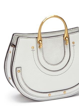 - Chloé - 'Pixie' mini bracelet handle leather crossbody saddle bag