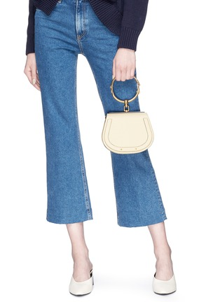 Front View - Click To Enlarge - Chloé - 'Nile' small bracelet handle crossbody bag