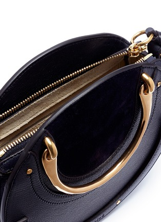 Detail View - Click To Enlarge - Chloé - 'Pixie' small bracelet handle round crossbody bag