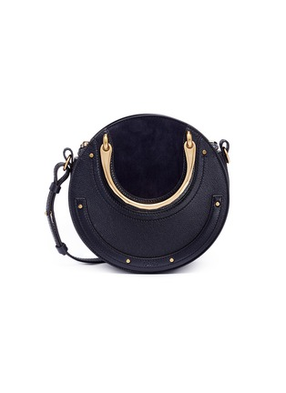 Main View - Click To Enlarge - Chloé - 'Pixie' small bracelet handle round crossbody bag