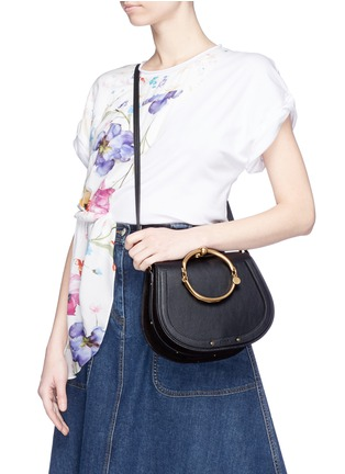 Front View - Click To Enlarge - Chloé - 'Nile' medium bracelet handle crossbody bag