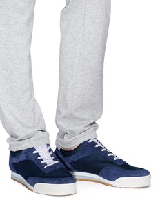 Spalwart 'Pitch Low' suede panel mesh sneakers