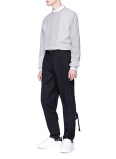 MCQ ALEXANDER MCQUEEN 拼接设计开衩鱼鳞布卫衣