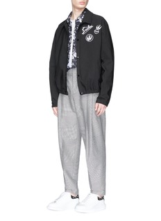 McQ Alexander McQueen Swallow skull appliqué coach jacket