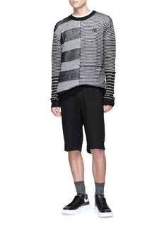 McQ Alexander McQueen 'Bondage' buckle pocket sweat shorts
