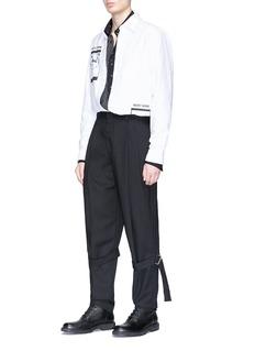 McQ Alexander McQueen 'Bondage' buckle strap virgin wool pants