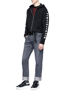 MCQ ALEXANDER MCQUEEN Monster Stripe怪兽图案纯棉条纹T恤