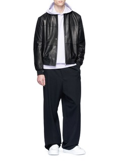 McQ Alexander McQueen 'MA1' lambskin leather bomber jacket