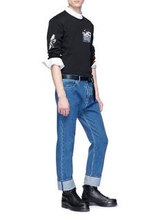 MCQ ALEXANDER MCQUEEN 抽象图案及英文字点缀纯棉T恤