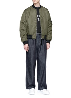 McQ Alexander McQueen 'MA1' ruched sleeve bomber jacket