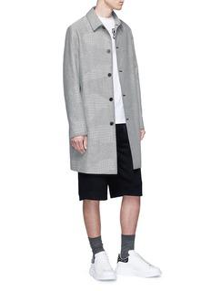 McQ Alexander McQueen Houndstooth patchwork coat