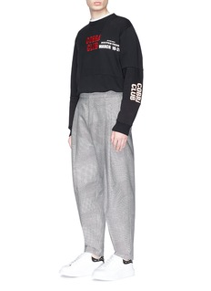 McQ Alexander McQueen 'Cobra Club' appliqué twill panel sweatshirt
