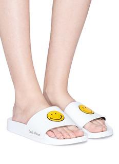 Joshua Sanders Smiley® rubber slide sandals