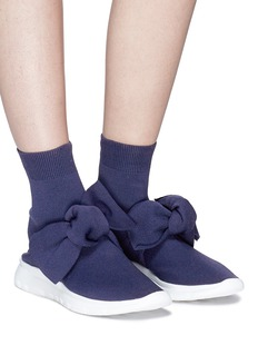 Joshua Sanders Oversized bow knit sock sneakers