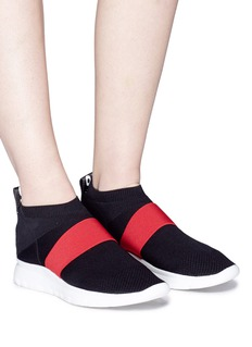 Joshua Sanders 'Go High' contrast band knit sock sneakers