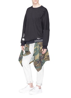 Adidas 'NMD' logo print panelled sweatshirt