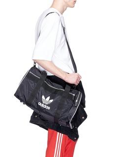 Adidas Logo print duffel bag