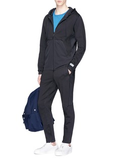 Adidas x Reigning Champ patchwork zip hoodie