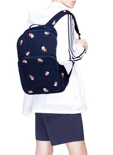 Adidas 'Trimm Dich' embroidered canvas backpack