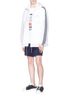 Adidas 'Trimm Dich' print 3-Stripes windbreaker jacket