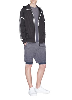Adidas x Reigning Champ layered performance shorts